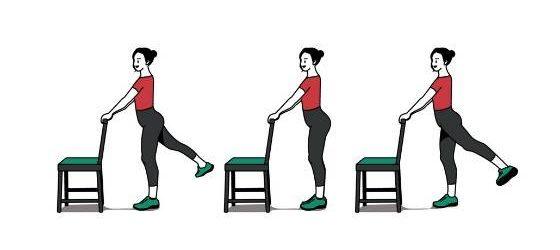 تقویت عضلات دورکننده پا در حالت ایستاده برای تسکین درد استخوان لگن