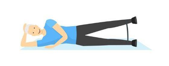 بالا آوردن لگن از پهلو حرکتی برای تسکین درد استخوان لگن
